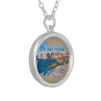 Dubrovnik with a View Silver Plated Necklace