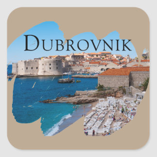 Dubrovnik with a View Square Sticker