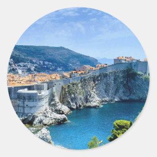Dubrovnik's Old City Classic Round Sticker