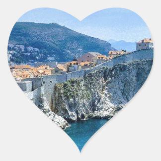 Dubrovnik's Old City Heart Sticker
