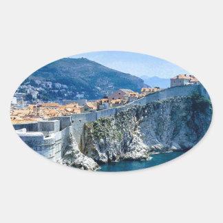 Dubrovnik's Old City Oval Sticker