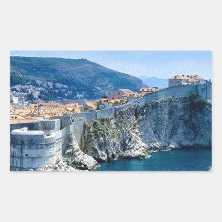 Dubrovnik's Old City Rectangular Sticker