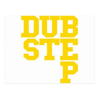 Dubstep Blockletter Gold Postcard
