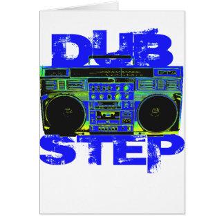 Dubstep Blue Boombox Greeting Card