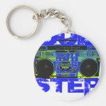 Dubstep Blue Boombox Keychain