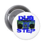 Dubstep Blue Boombox Pins