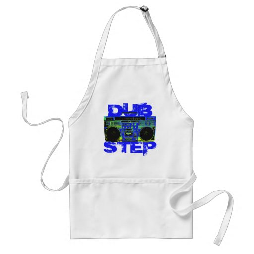 Dubstep Blue Boombox Standard Apron