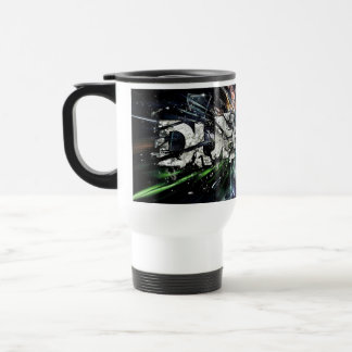 dubstep design travel mug
