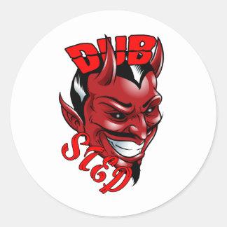 Dubstep Devil Classic Round Sticker