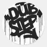 Dubstep FatCap Black Classic Round Sticker