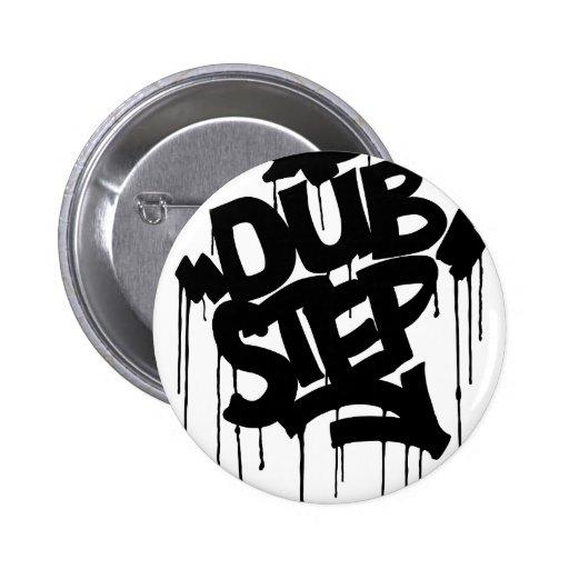 Dubstep FatCap Black Pinback Buttons