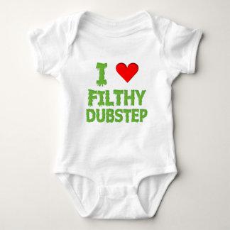 Dubstep Filthy dub step bass techno wobble Baby Bodysuit