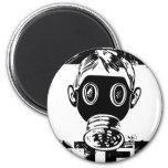 Dubstep Gas Mask Fridge Magnet