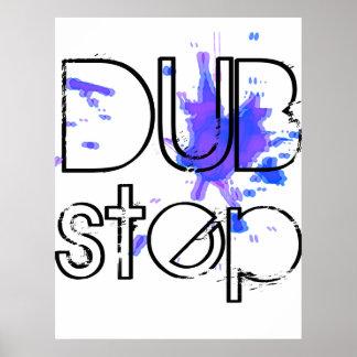 DubStep Splatter Poster