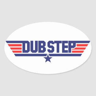 Dubstep (Wings & Star) Oval Sticker