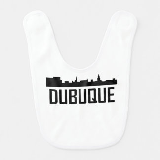 Dubuque Iowa City Skyline Bib