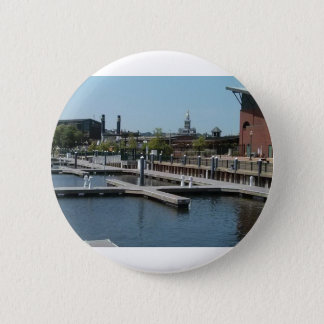 Dubuque, Iowa Ice Harbor, Mississippi River 6 Cm Round Badge