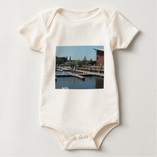Dubuque, Iowa Ice Harbor, Mississippi River Baby Bodysuit