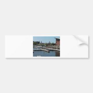 Dubuque, Iowa Ice Harbor, Mississippi River Bumper Sticker
