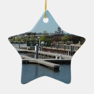Dubuque, Iowa Ice Harbor, Mississippi River Ceramic Ornament
