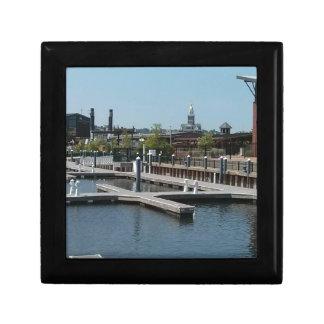 Dubuque, Iowa Ice Harbor, Mississippi River Gift Box