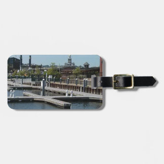 Dubuque, Iowa Ice Harbor, Mississippi River Luggage Tag