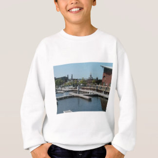 Dubuque, Iowa Ice Harbor, Mississippi River Sweatshirt