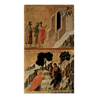 Duccio di Buoninsegna - Christ and Mary Magdalene Poster