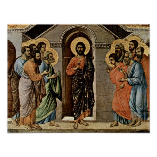 Duccio di Buoninsegna - Christ appears to Apostles Poster