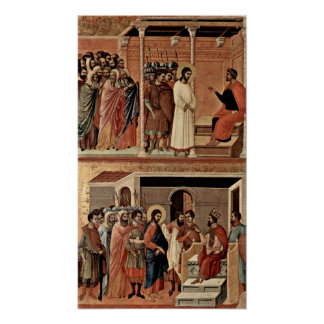 Duccio di Buoninsegna - Christ before Pilate Poster