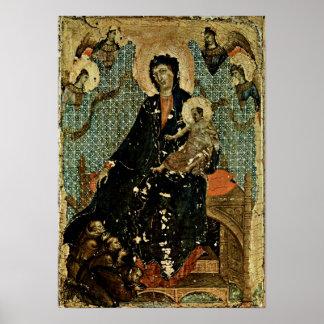 Duccio di Buoninsegna - Madonna of Franciscans Poster