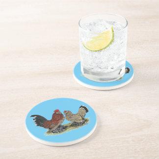 D'Uccle Bantams:  Mille Fleur Beverage Coasters