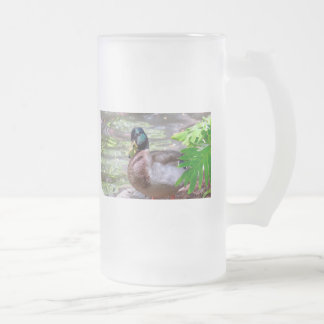 Duck 16 oz Frosted Glass Mug