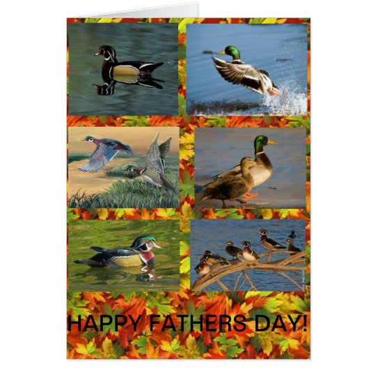 Duck a Dad Fathers Day card. Card