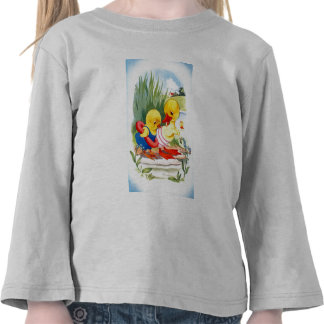 Duck and chick go swimming shirts