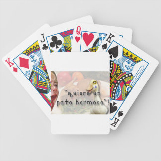 Duck and girl bicycle playing cards