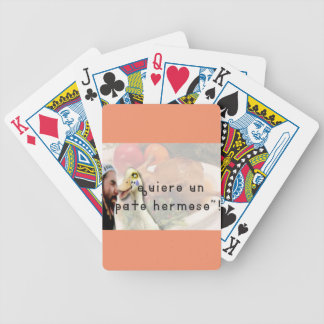 Duck and punk bicycle playing cards
