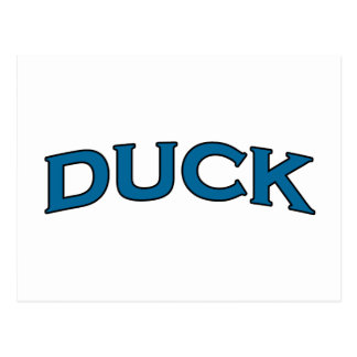 Duck Arch Text Logo Postcard
