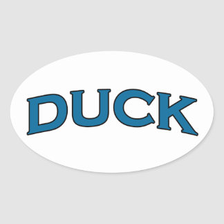 Duck Arch Text Logo Oval Sticker