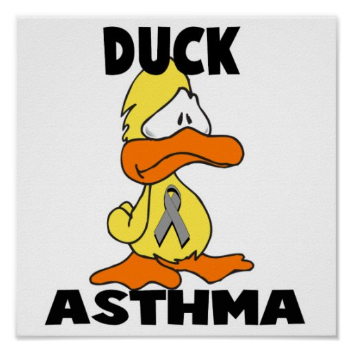 Duck Asthma Poster