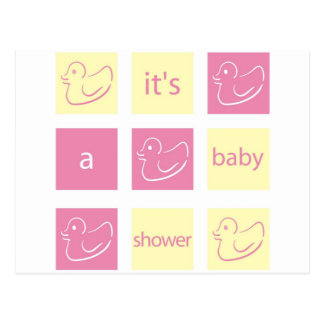 Duck Baby Shower Invitation Postcard