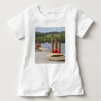 Duck Bay pier, Loch Lomond, Scotland Baby Bodysuit