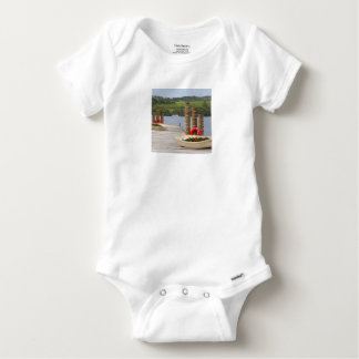 Duck Bay pier, Loch Lomond, Scotland Baby Onesie