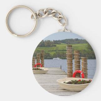 Duck Bay pier, Loch Lomond, Scotland Key Ring