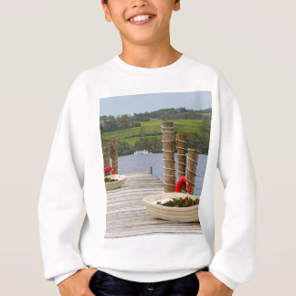 Duck Bay pier, Loch Lomond, Scotland Sweatshirt