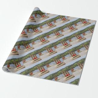 Duck Bay pier, Loch Lomond, Scotland Wrapping Paper
