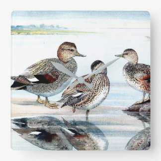Duck Birds Wildlife Animals Pond Wall Clock