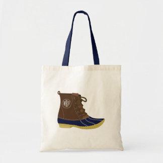 Duck Boot Monogrammed Tote Bag