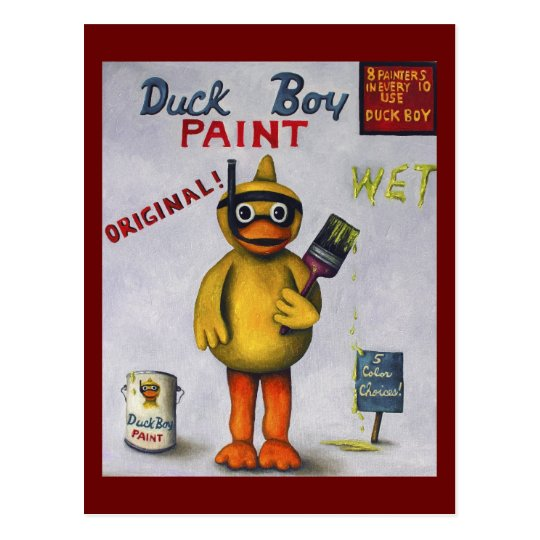 Duck Boy Paint Postcard