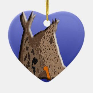 Duck Butt Ceramic Heart Decoration